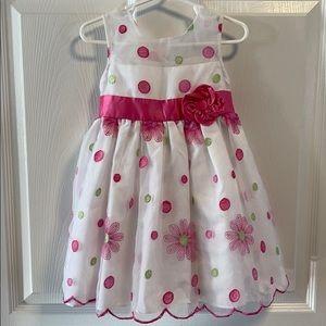 Jona Michelle white,pink,green shr flower dress 3